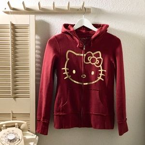 {Hello Kitty} Medium Front Zip Sweatshirt Hoodie